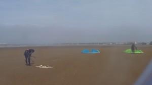 kite-surf - installation des voiles