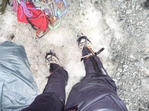 matériel aux pieds