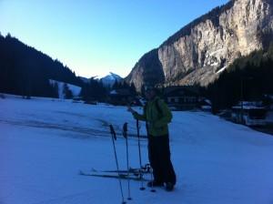ski de randonnée, au départ des prodains