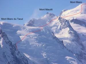 Mont-Blanc - voie des 3 monts
