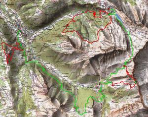 Trail des hauts-forts - carte