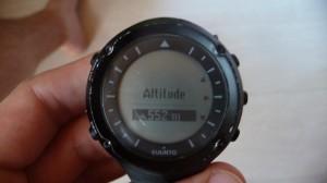 Suunto Ambit : calibration de l'altitude