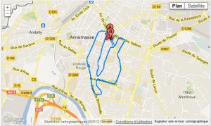 Le parcours du 10 kms d'annemasse