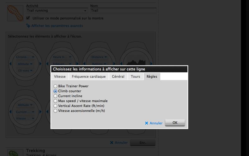 Movescount : l'ajout d'une application dans un mode personnalisé