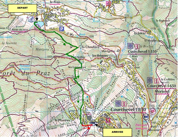 Courchevel dynafit ski touring - le parcours